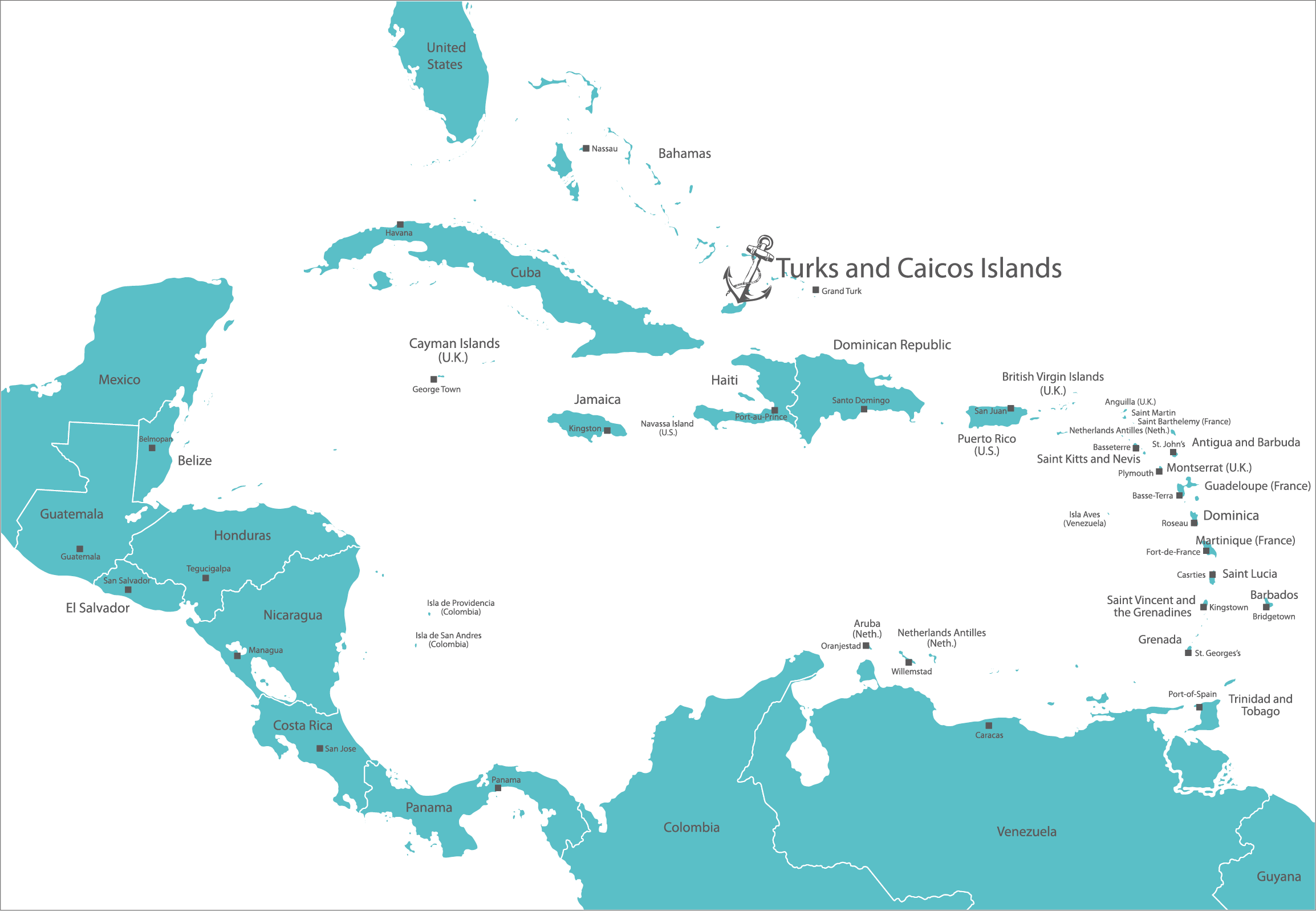 Turks and Caicos on the Map